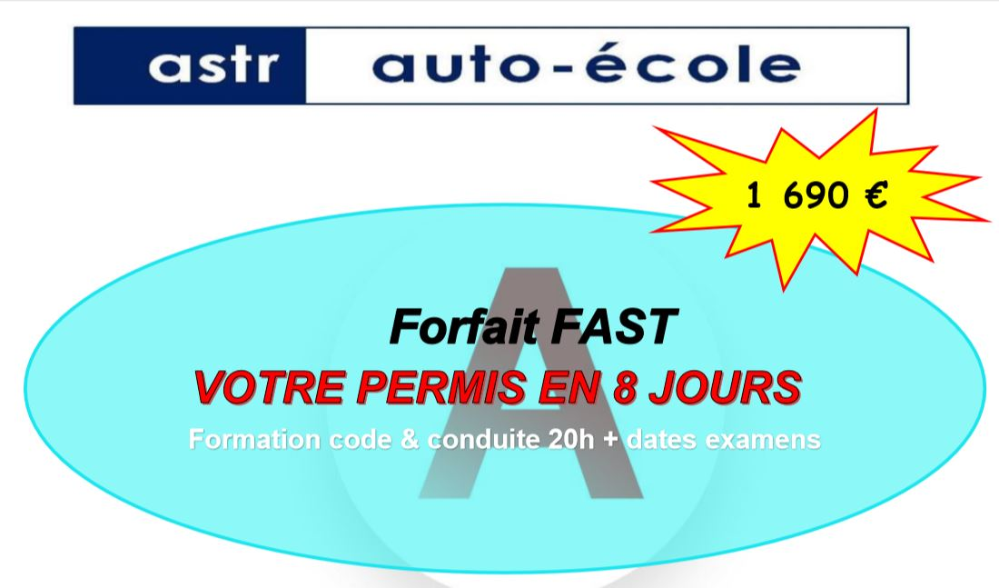 forfait fast en 8 jours permis auto vitrolles 13 marseille martigues. Black Bedroom Furniture Sets. Home Design Ideas